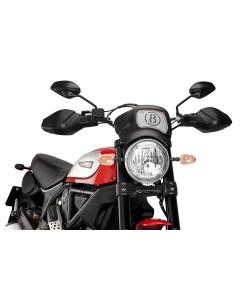 Puig Handschutzprotektoren / Hand Guards matt schwarz Ducati Scrambler 800 Desert Sled
